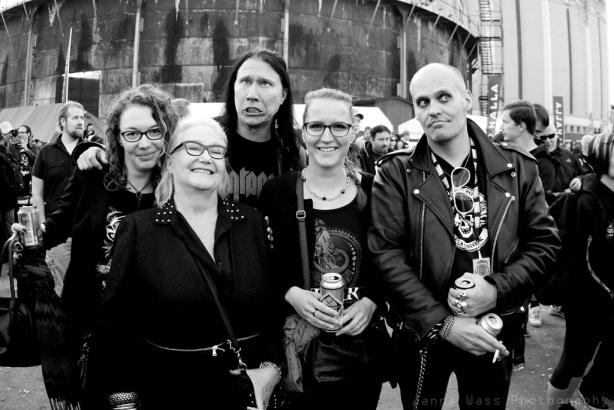 I Tuska-minglet med bland annat Kjell från Bob Malmström och Lasse från Dogshit Boys.